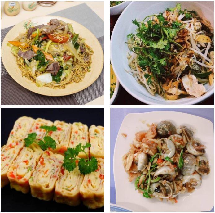 Các món ăn ở ốc Bà Điểm