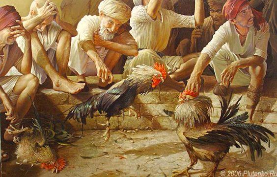 đá gà thời xưa