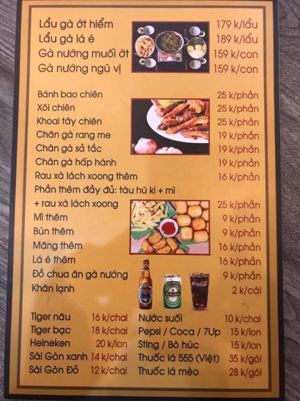 Hình ảnh menu