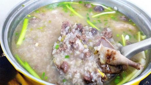 Bồ câu nấu cháo đậu xanh