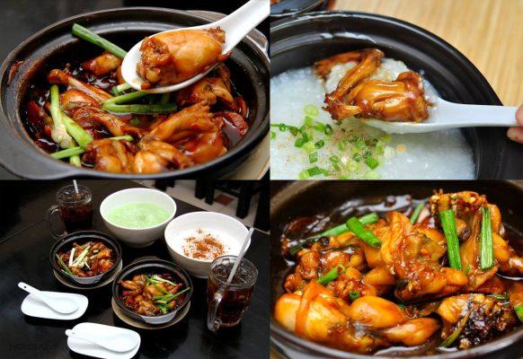 cháo ếch một trong các món ăn từ ếch nổi tiếng nhất