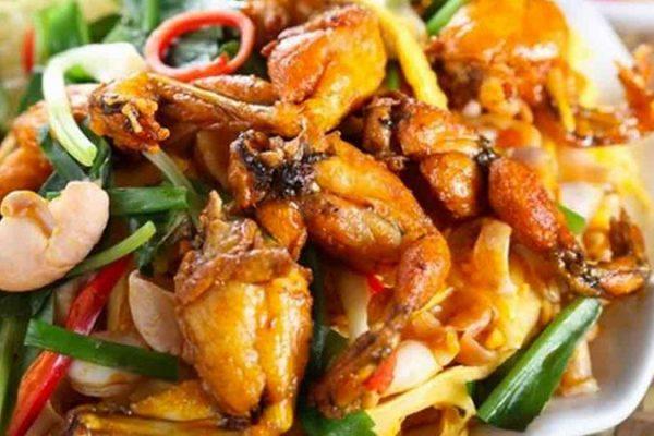 ếch xào sả ớt một trong các món ăn từ ếch được yêu thích nhất